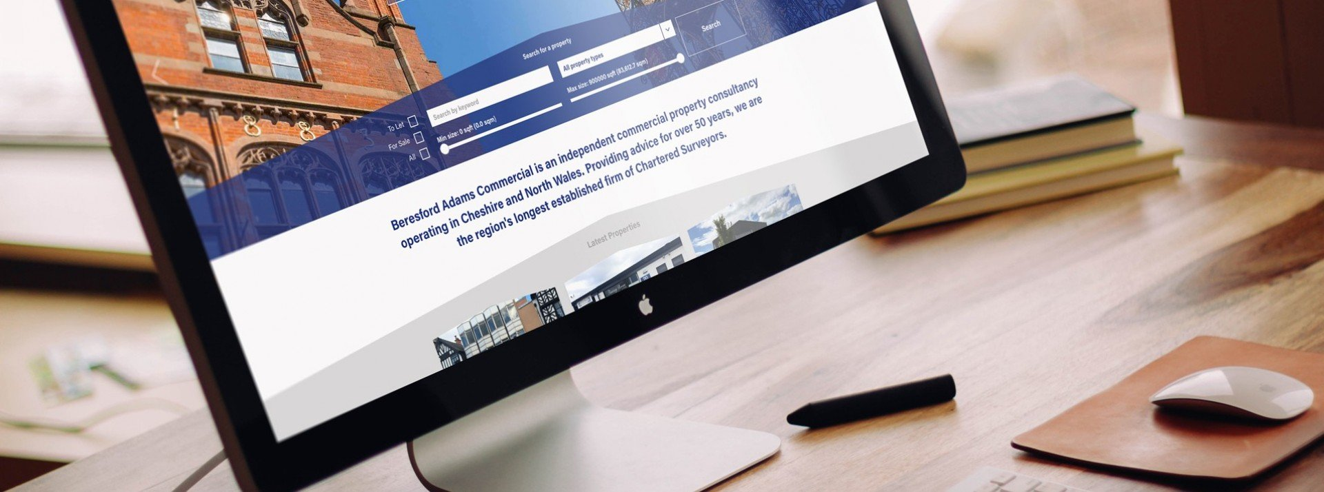 Beresford Adams website- an example of one of our property websites