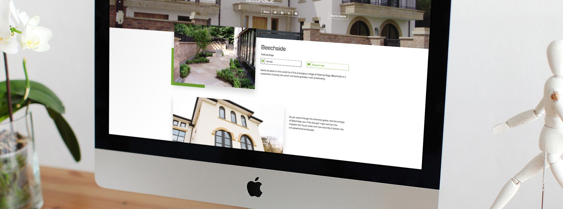 Website design and development for the property industry