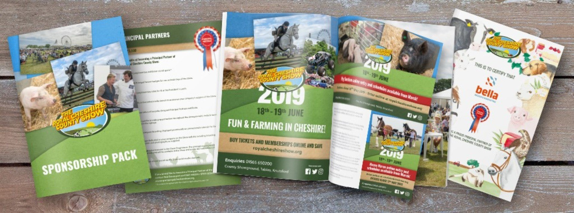 The Royal Cheshire Show 2019 Marketing Collateral