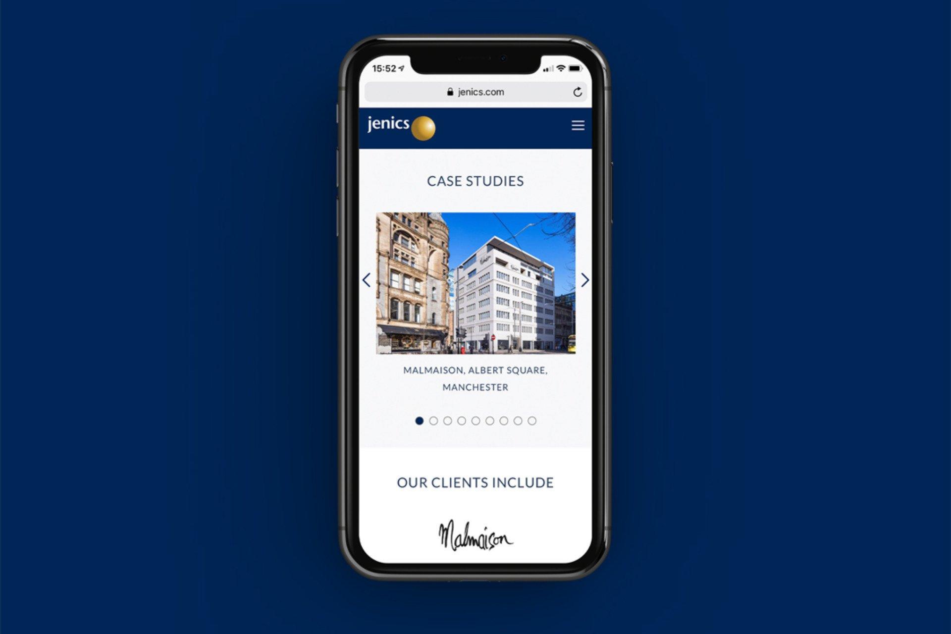 Jenics Mobile Responsive Website