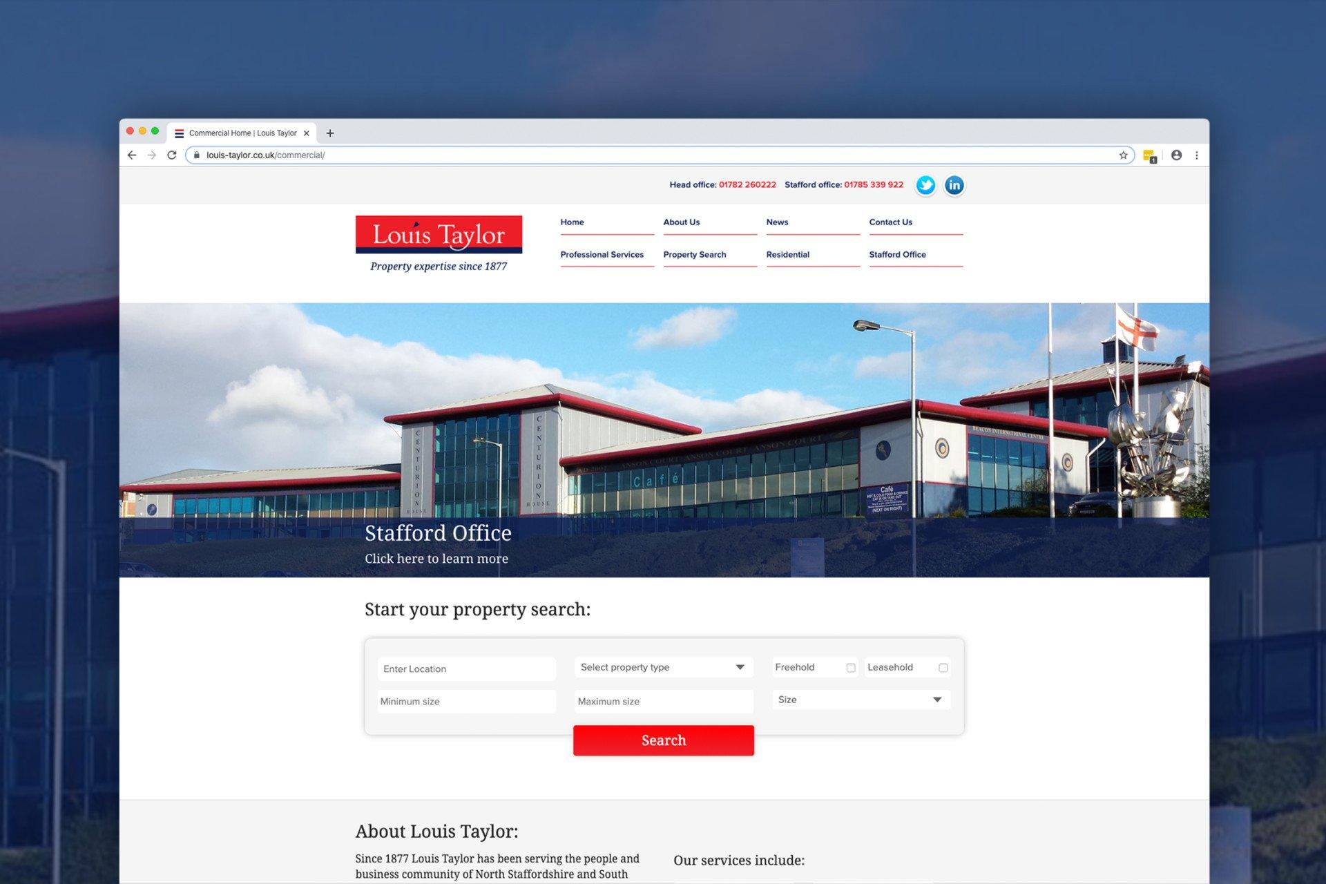 Louis Taylor Website Design