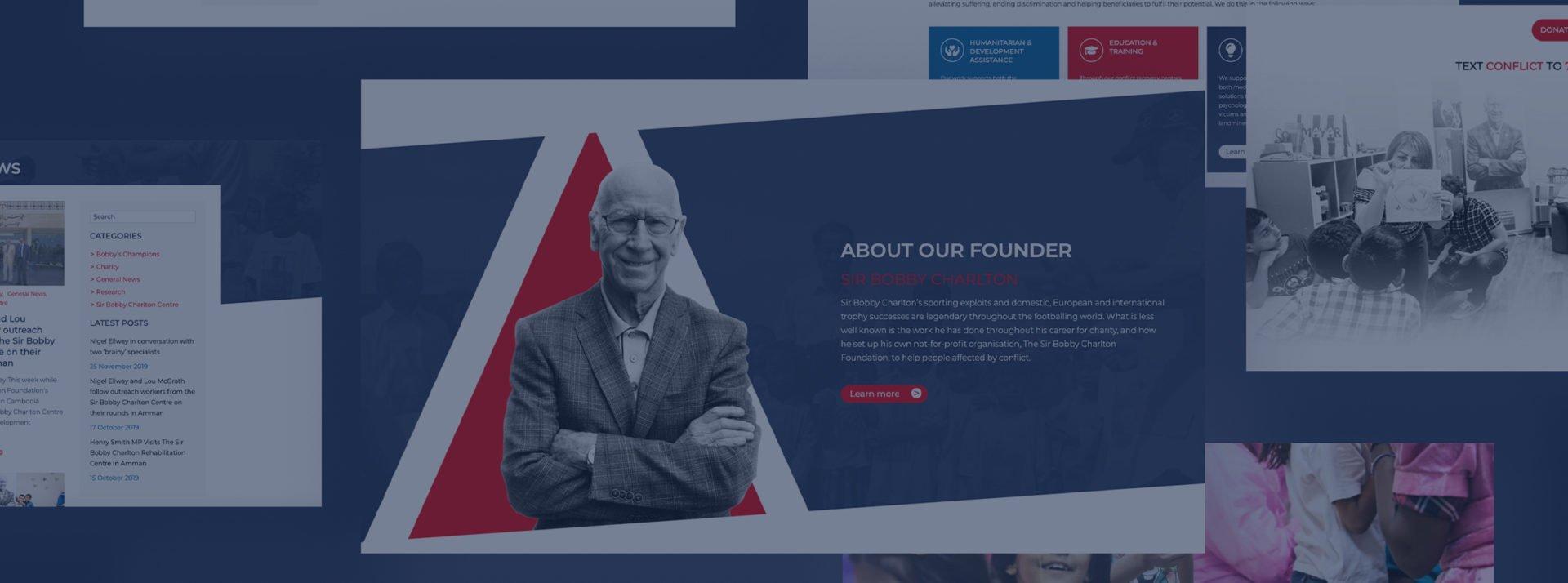Sir Bobby Charlton Foundation Branding