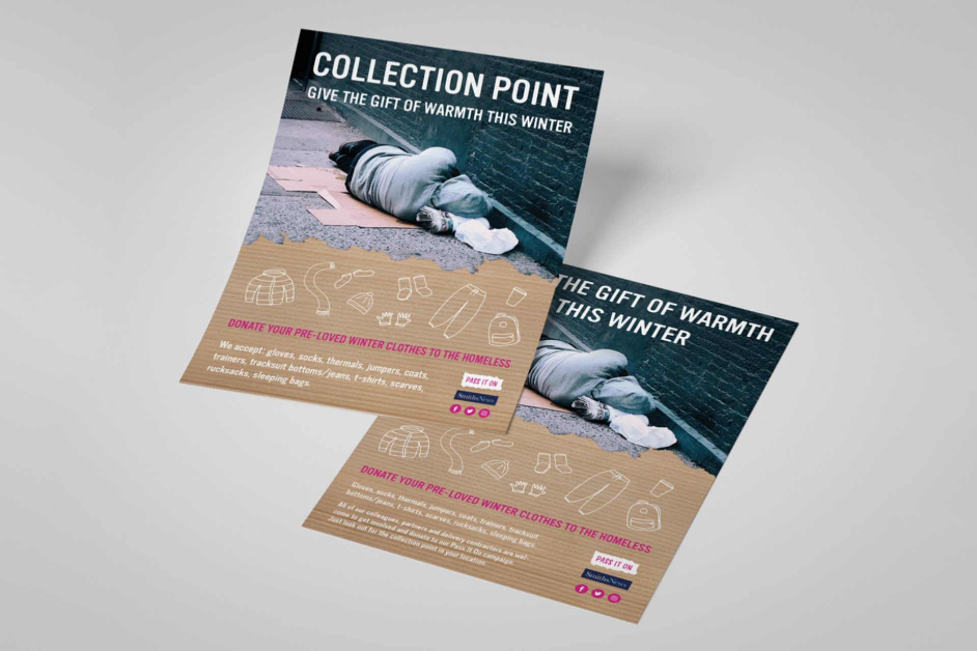 Pass It On Homeless Charity Posters
