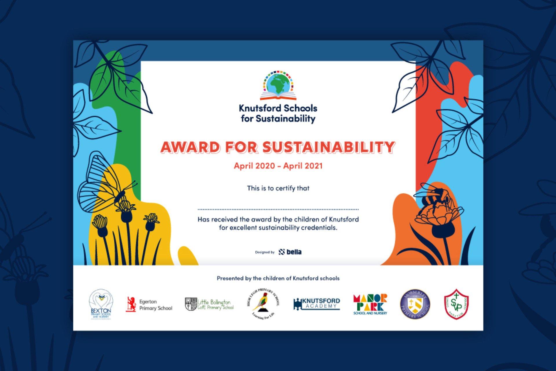 Knutsford Schools Sustainability Award