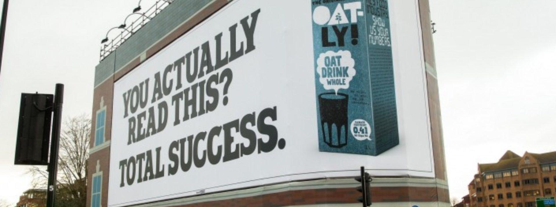 Oatly Billboard Campaign