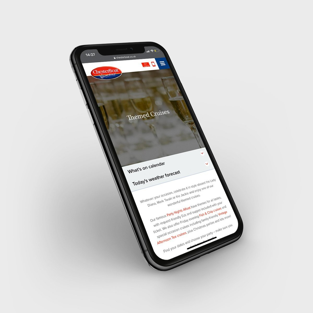 Cheshire Show Mobile Responsive Website