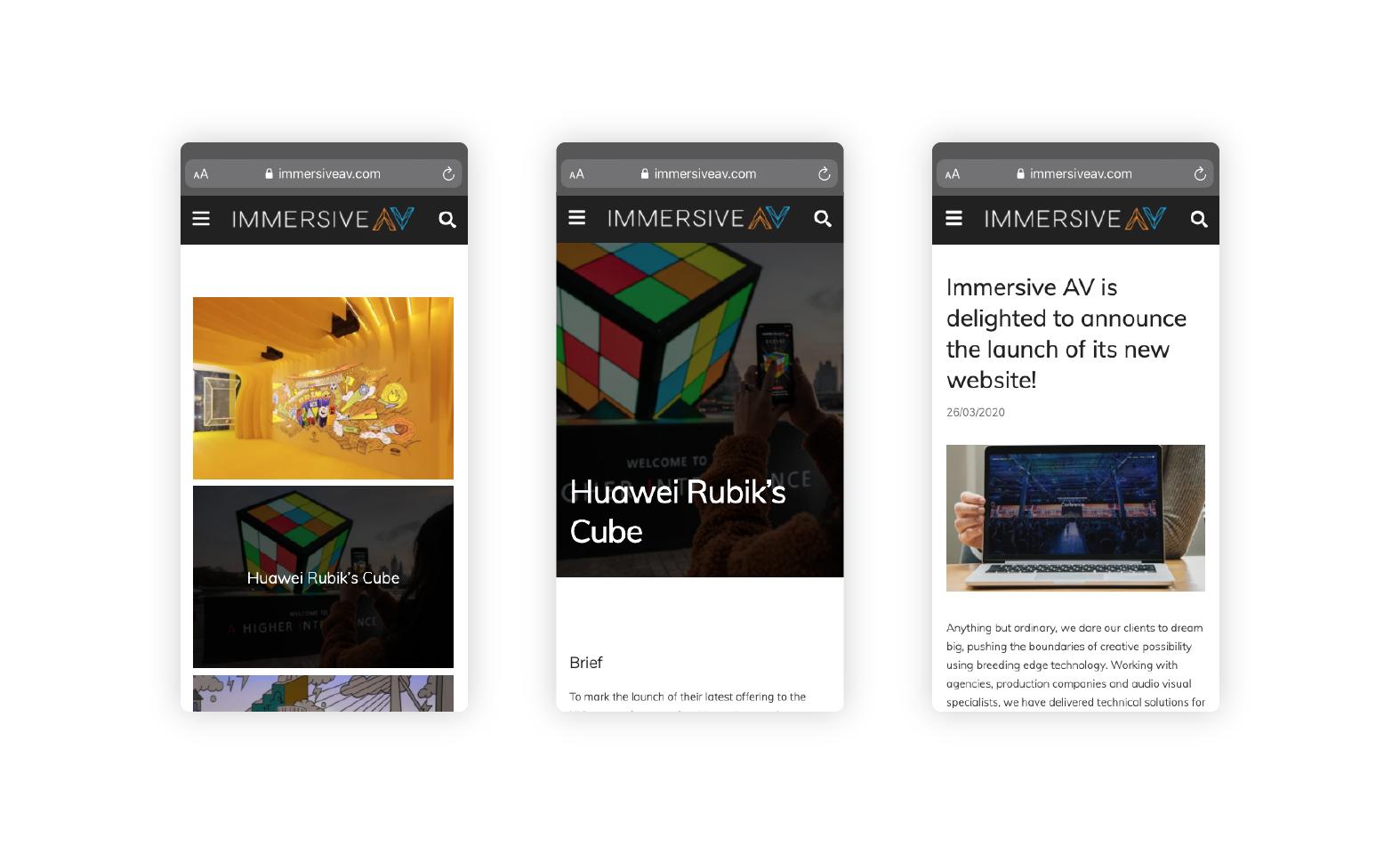 Immersive AV Website Development