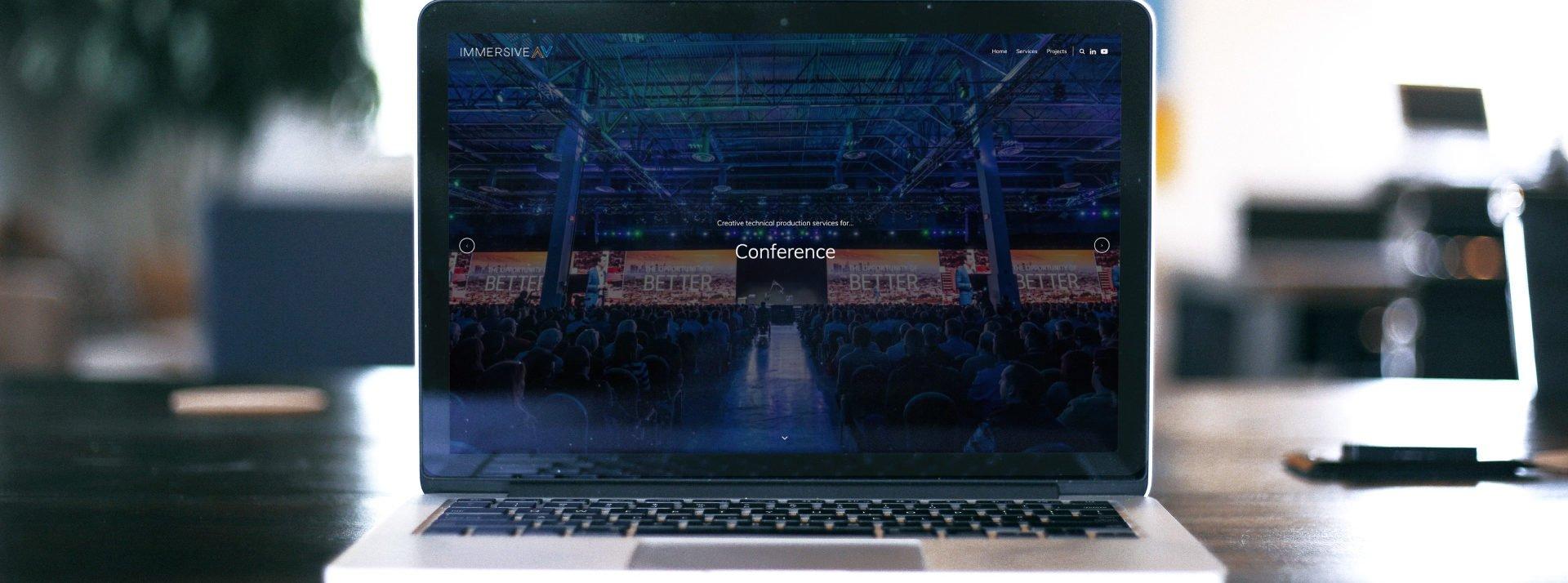 Immersive AV Website Design