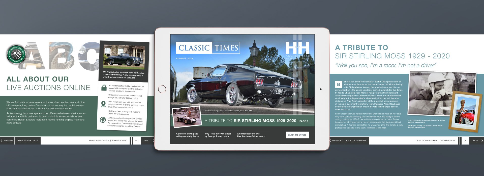 Brochure created for H&H Classics