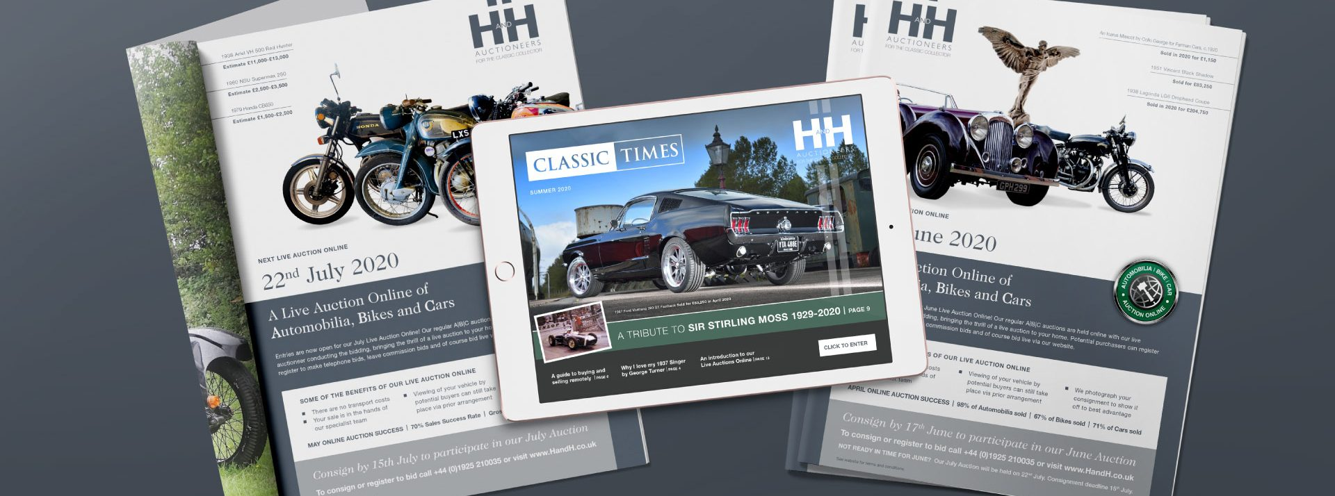 Marketing materials created for H&H Classics