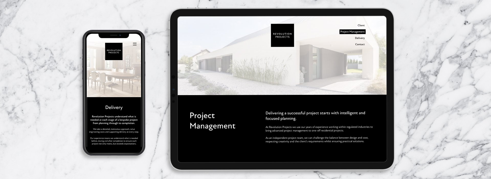Website development for high end property company