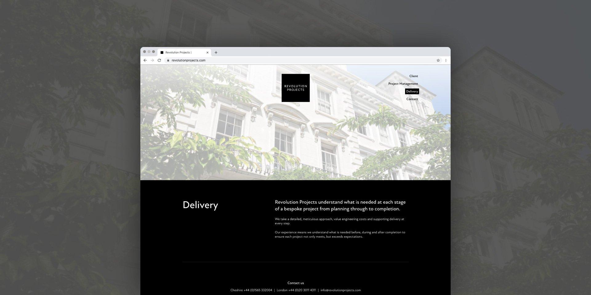 Revolution Projects Website Design