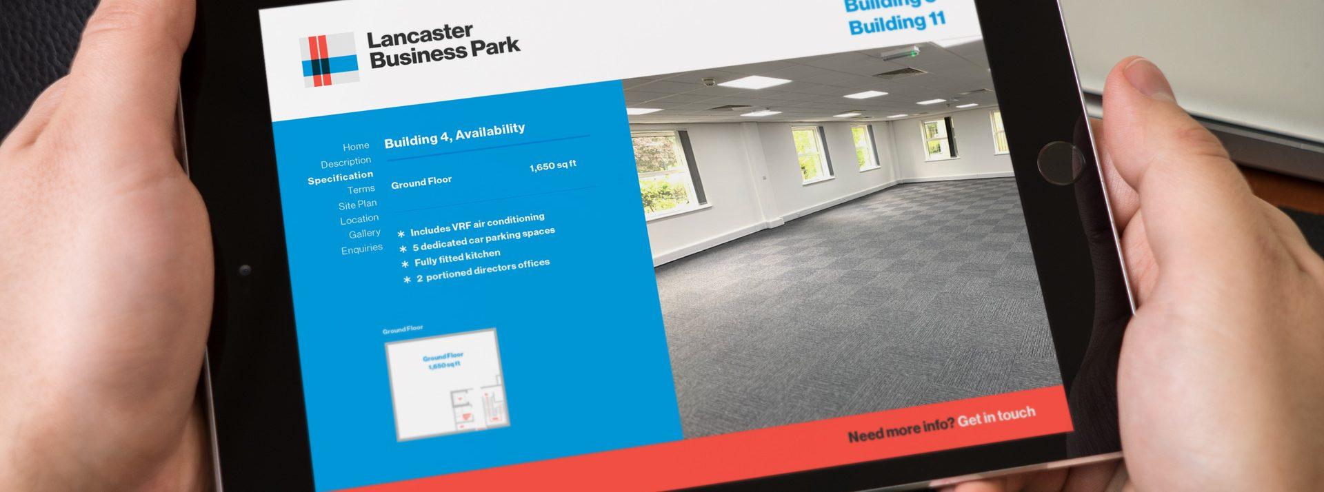 eBrochure created for Lancaster Business Park