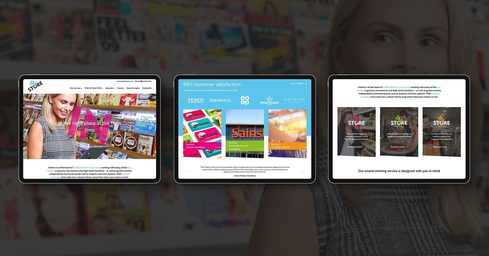 Instore website design