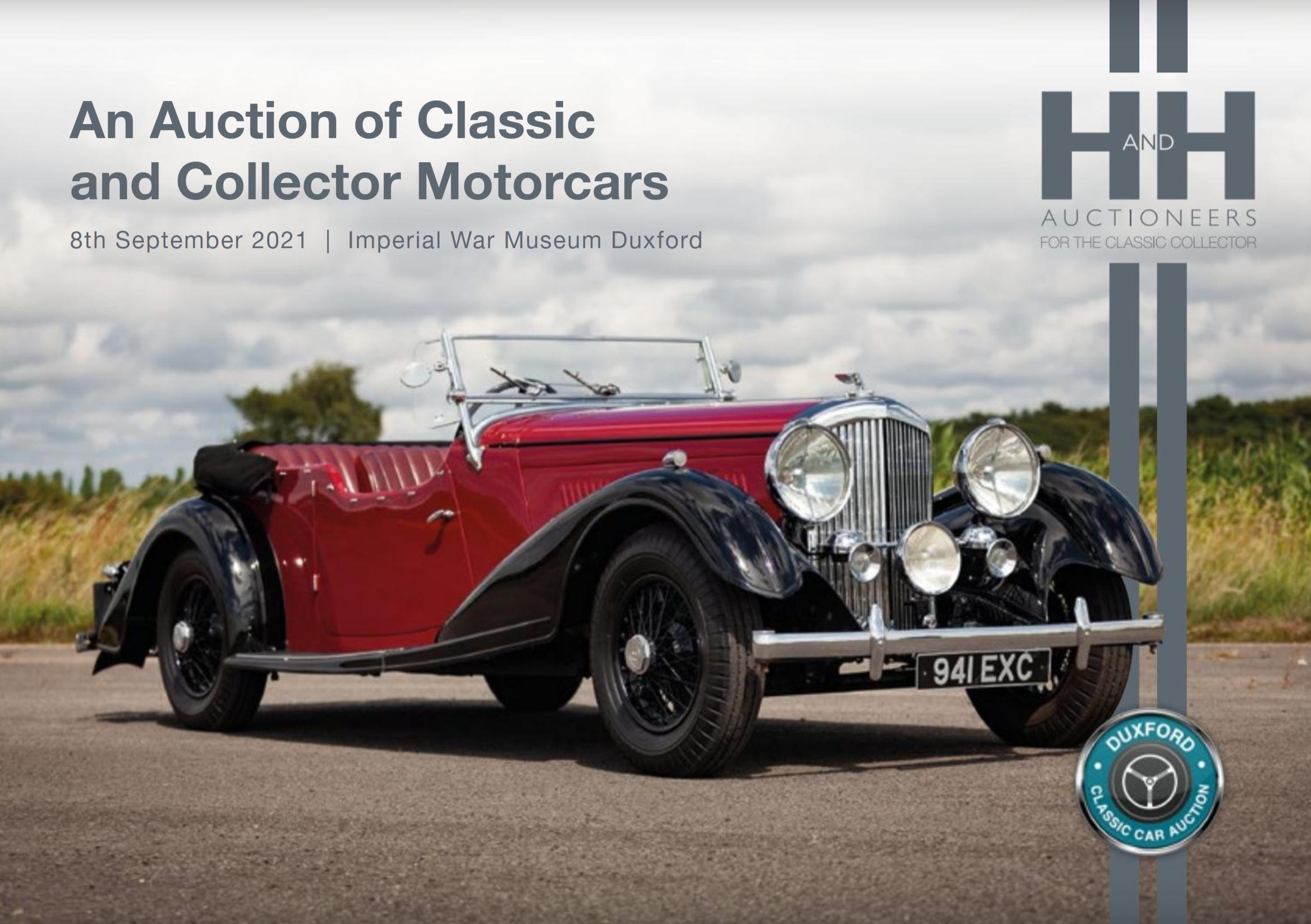 Auction catalogue for our client H&H Classics